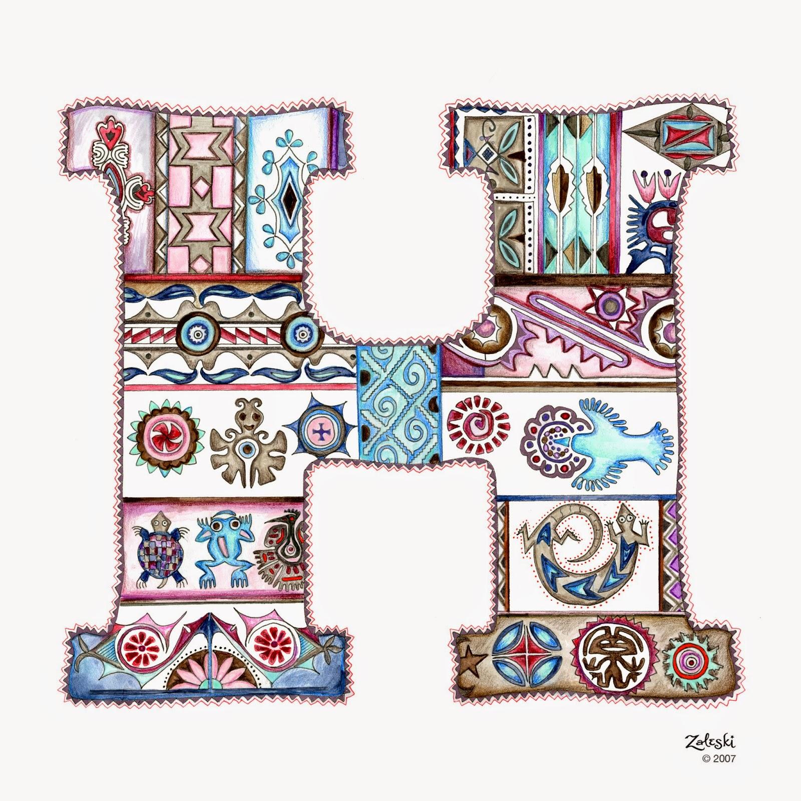 Amy Zaleski Illustration & Lettering The Letter H
