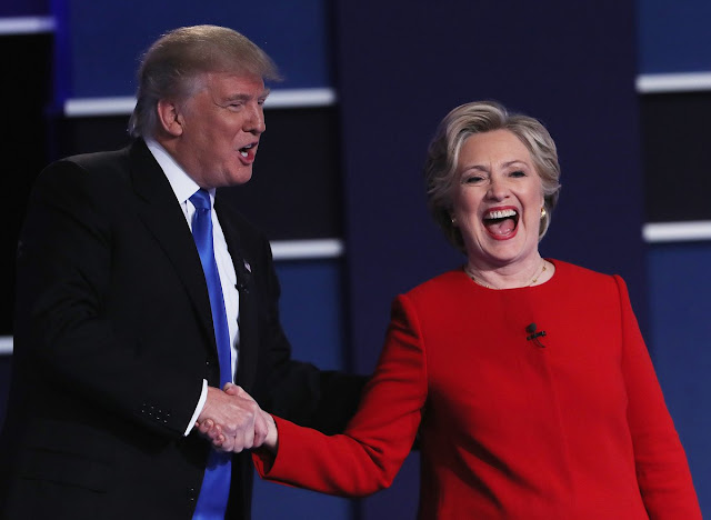Hillary Clinton caminhou na corda bamba no debate com Donald Trump