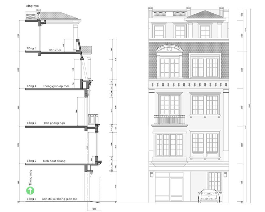 Kiến trúc dự án liền kề 58 Trúc Khê