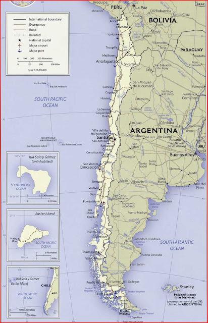 Gambar Peta politik Chili