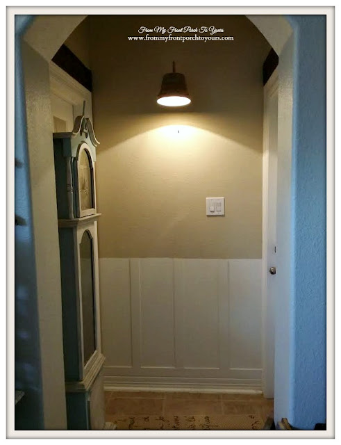 DIY Board & Batten-Makeover-Farmhouse-Guest Hallway-From My Front Porch To Yours