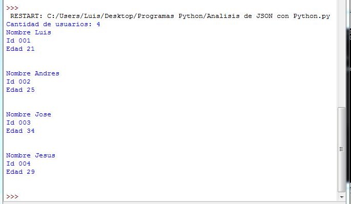 Mi Diario Python Análisis Del Formato Json Con Python