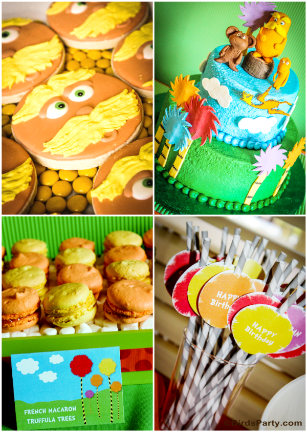 Lorax Inspired Birthday Party Ideas and Printables  - BirdsParty.com