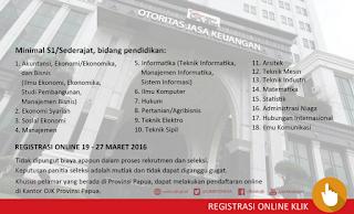 Lowongan kerja Otoritas jasa keuangan OJK. http://www.ojk.go.id/  http://www.ppm-rekrutmen.com/ojk/beranda/informasi  http://www.ppm-rekrutmen.com/ojk/beranda/pernyataan