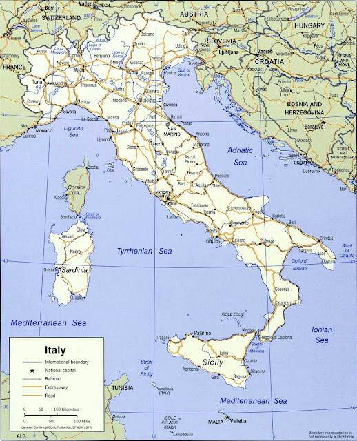 image: Italy Political Map