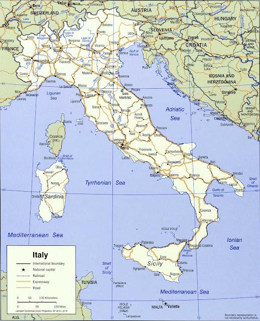 Gambar Peta politik Italia