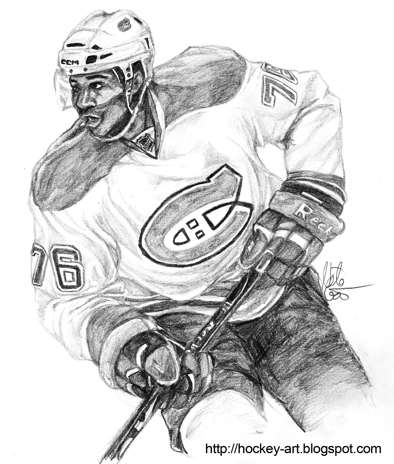 Montreal Canadians Coloring Pages
