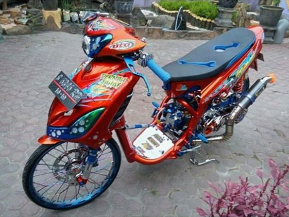 modifikasi mio drag harian