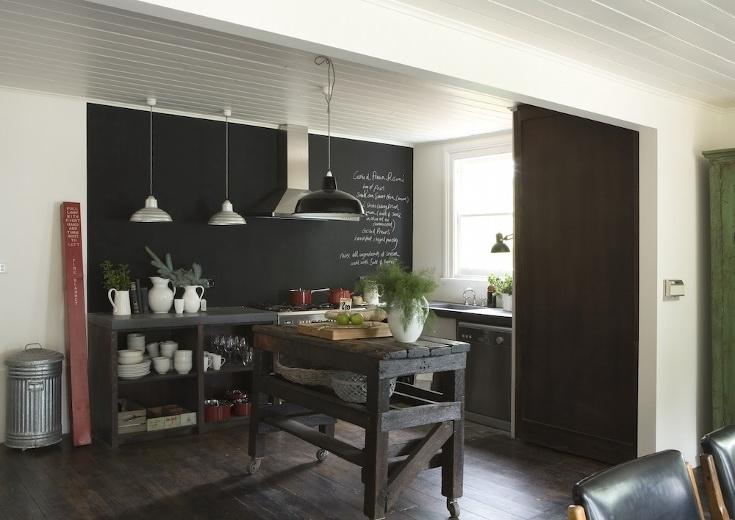 Parete Di Lavagna In Cucina : Boiserie c pittura lavagna chalk board paint nuove idee