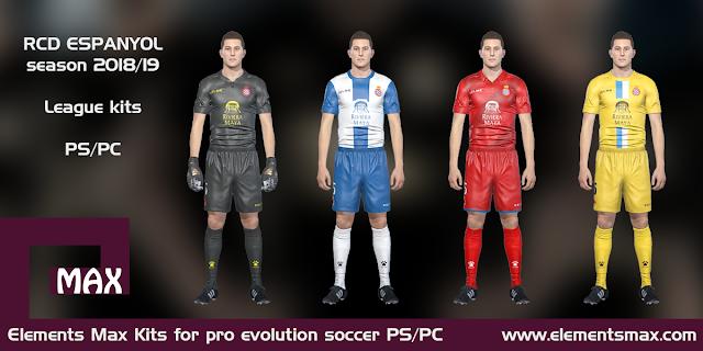 RCD Espanyol PES Kits 2018/19