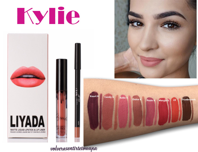 Labiales líquidos de Kylie en Aliexpress