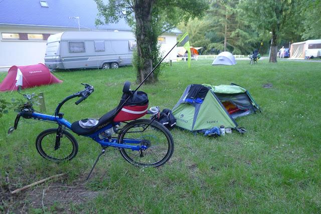 Tour de la Beauce en vélo couché  au camping de Chartres
