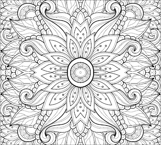 Anti Stress Flowers - Adult Coloring Pages