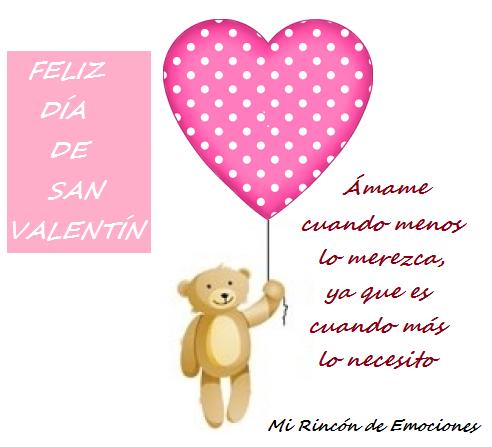 Tarjeta De San Valentín Con Osito Y Corazones Mi Rincón De
