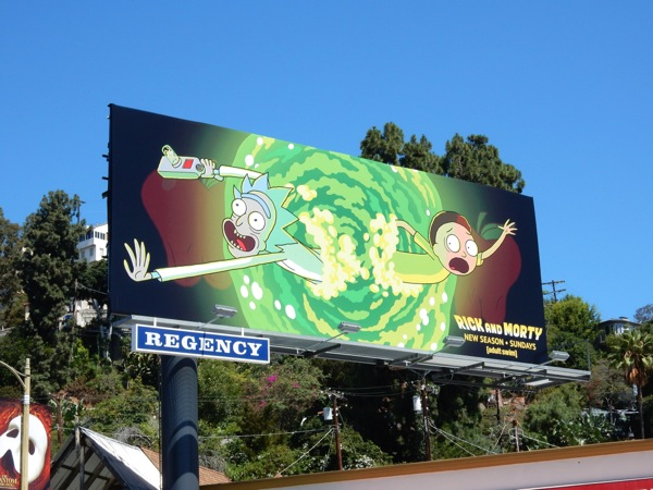 Rick and Morty season 2 billboard