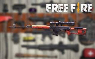 senjata terbaik free fire SVD