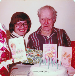 Fred Belair and Marianne Belair on their birthday in December 1975