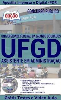 Apostila UFGD-MS Assistente em Administração.