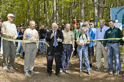 ribbon cutting for the North Country Trail, TART and KART connector trail
