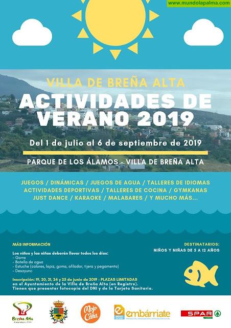 Actividades de Verano 2019 en Breña Alta