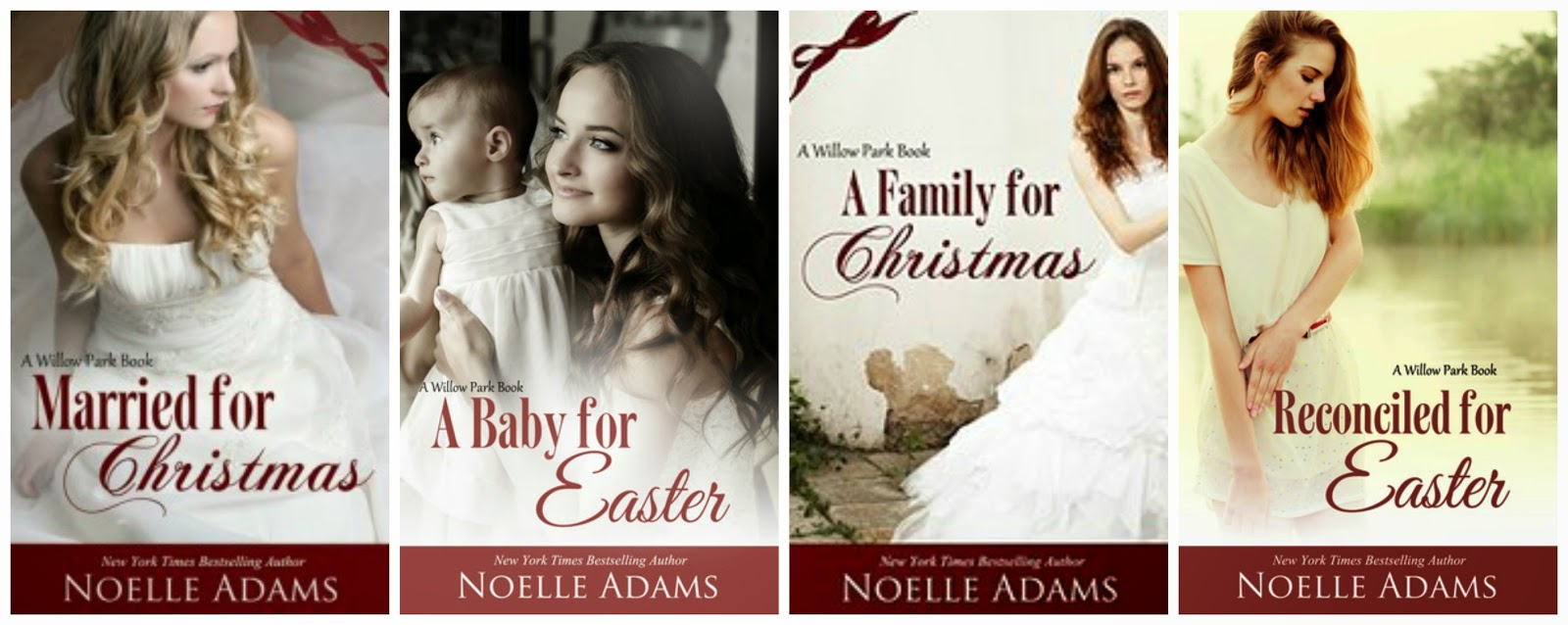 Book covers: Willow Park Series by Noelle Adams