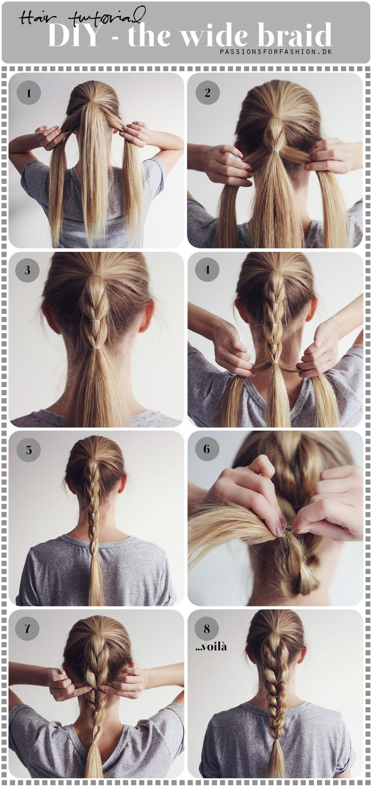 Excellent Diy Wide Braid Hairstyle In 10 Minute Toronto Calgary Edmonton Hairstyle Inspiration Daily Dogsangcom