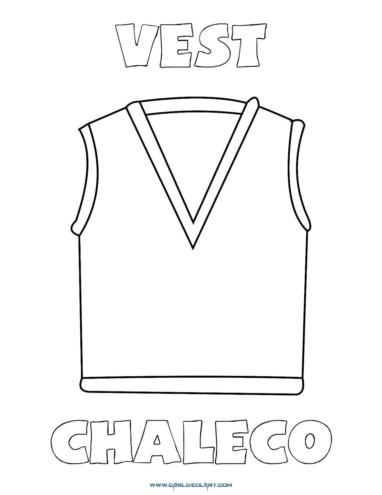 Dibujos Inglés Español Con Ch Chaleco Vest