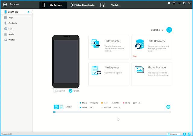 Syncios iOS & Android Manager : Διαχειριστείτε συσκευές iOS και Android. μέσω του υπολογιστή σας