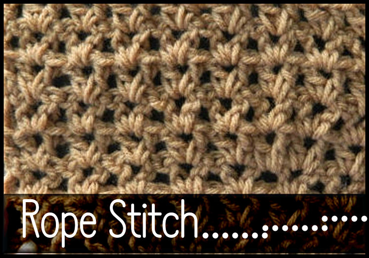 Crochet Stitches V-St : Try Rope Stitch Pattern aka the V Stitch. Use this for blankets ...