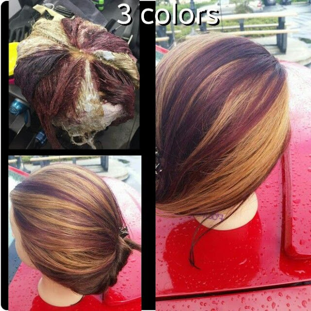 hot hair coloring technique
