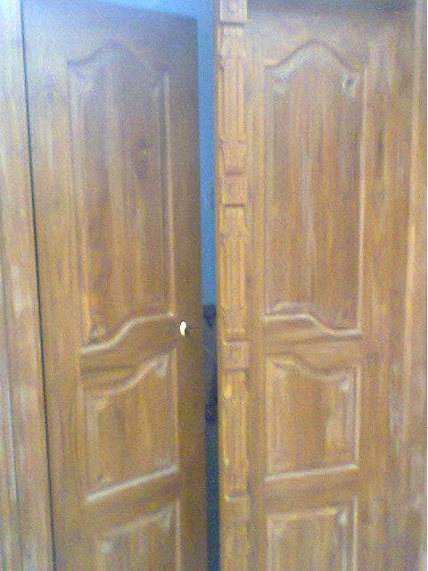 Bavas Wood Works Pooja Room Door Frame And Door Designs: Carpenter Work Ideas And Kerala Style Wooden Decor: Wooden