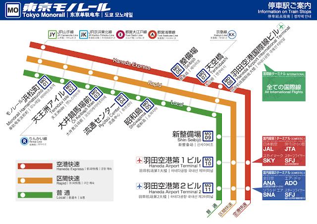 東京モノレール 路線図
