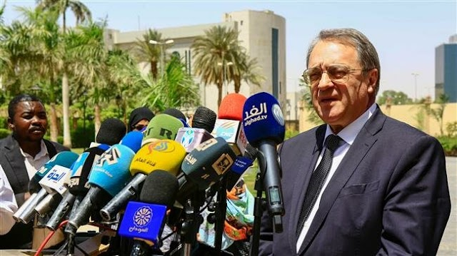 Russian deputy foreign minister Mikhail Bogdanov says Moscow recognizes new Sudan authorities