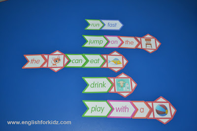 Dolch words activities with pictures
