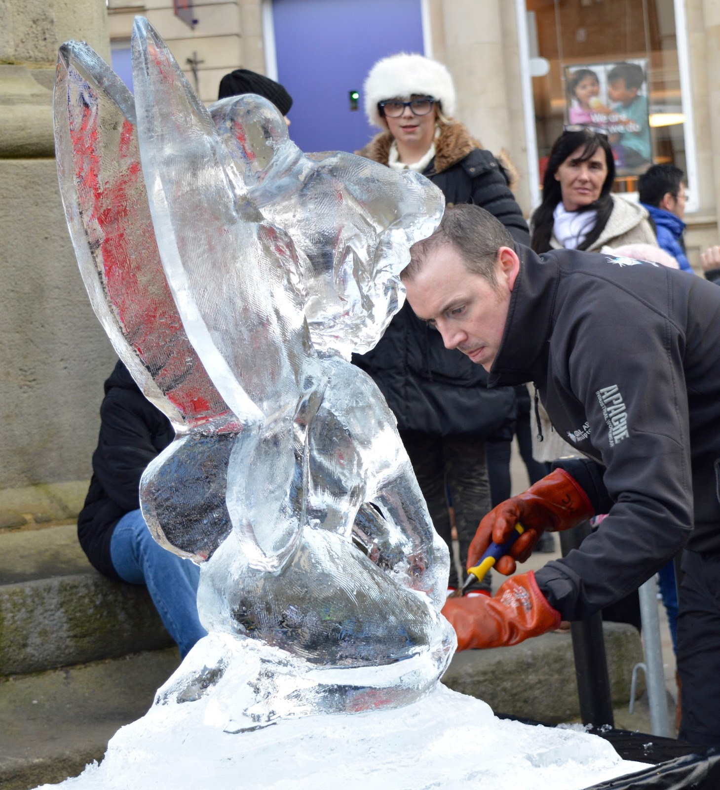 Fire and Ice Durham 2017 | Photographs & Top Tips for 2018 - ice sculpture of tinkerbell