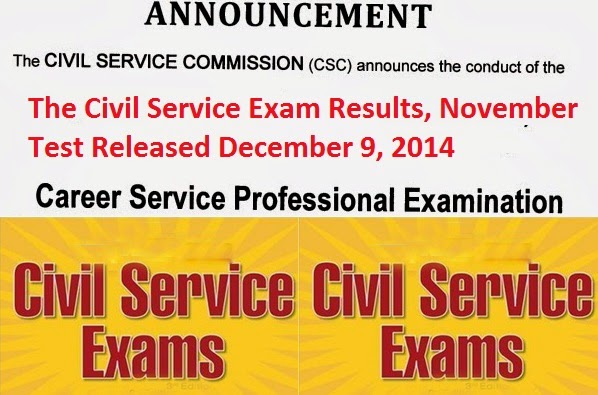 Passers for The Civil Service Exam- Paper and Pencil Test (CSE-PPT) last October 26, Released on December 9, 2014 Boards