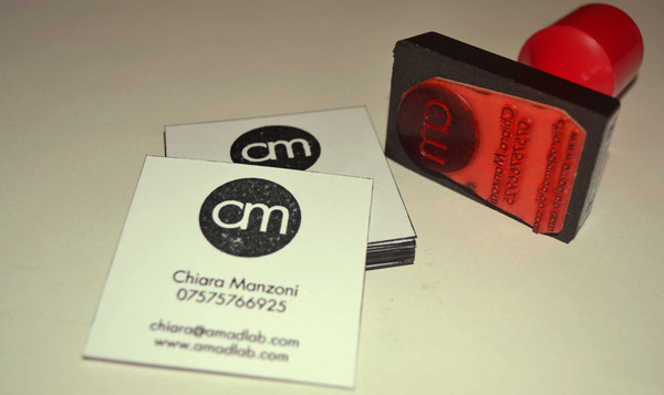 Business Cards Entirely Hand Crafted The Rubber Stamp Gives Logo A Washed Out Look To Reflect And Match Style Of Website