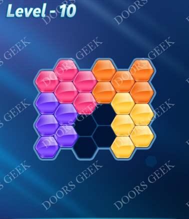 Block! Hexa Puzzle [Intermediate] Level 10 Solution, Cheats, Walkthrough for android, iphone, ipad, ipod
