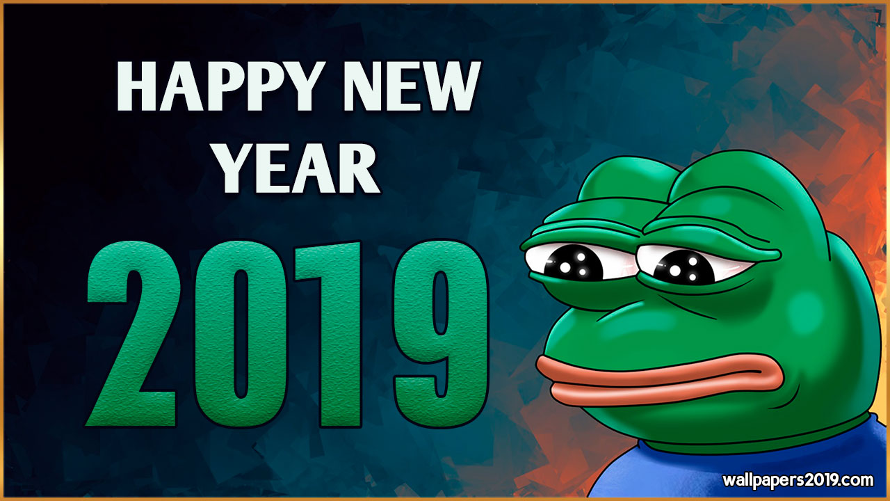 happy new year 2019 frog meme