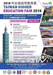 Taiwan Higher Education Fair 2018 in Bandung, Yogyakarta and Semarang