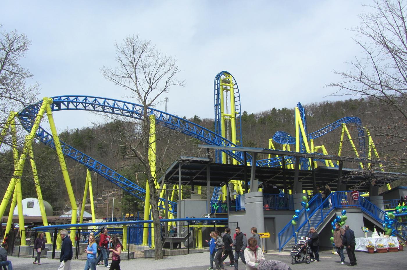 Newsplusnotes Knoebels Debuts New Custom Steel Roller Coaster Impulse