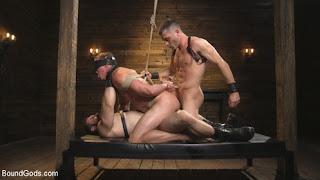 BoundGods – Jaxton Wheeler, Lance Hart, Pierce Hartman Training Day – Dom in training gets to break in a ripped, new slave