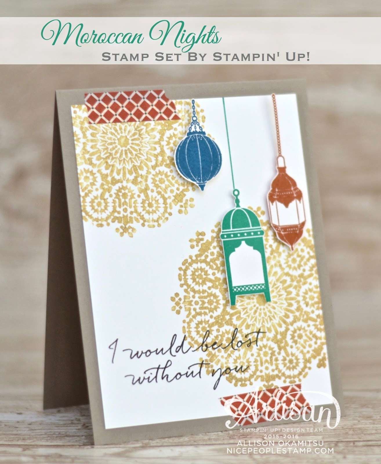 Nice People Stamp Stampin Up Canada Moroccan Nights Card