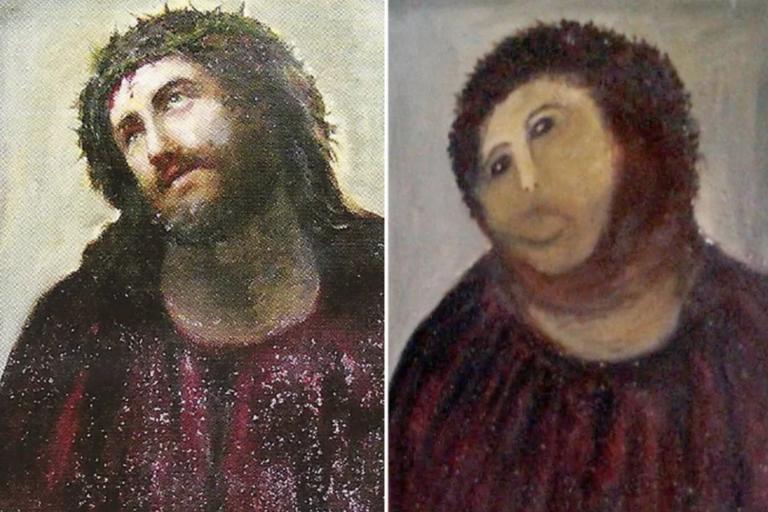 Famous Botched Jesus Painting