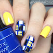 Minion Grid Nails