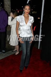 Ladies in Satin Blouses rochelle aytes  white satin blouse