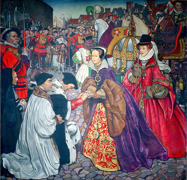 Entry of Queen Mary I with Princess Elizabeth into London in 1553
