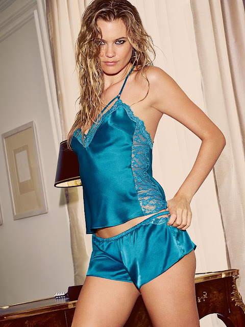 Behati Prinsloo goes rock chic for Victoria's Secret Lingerie shoot