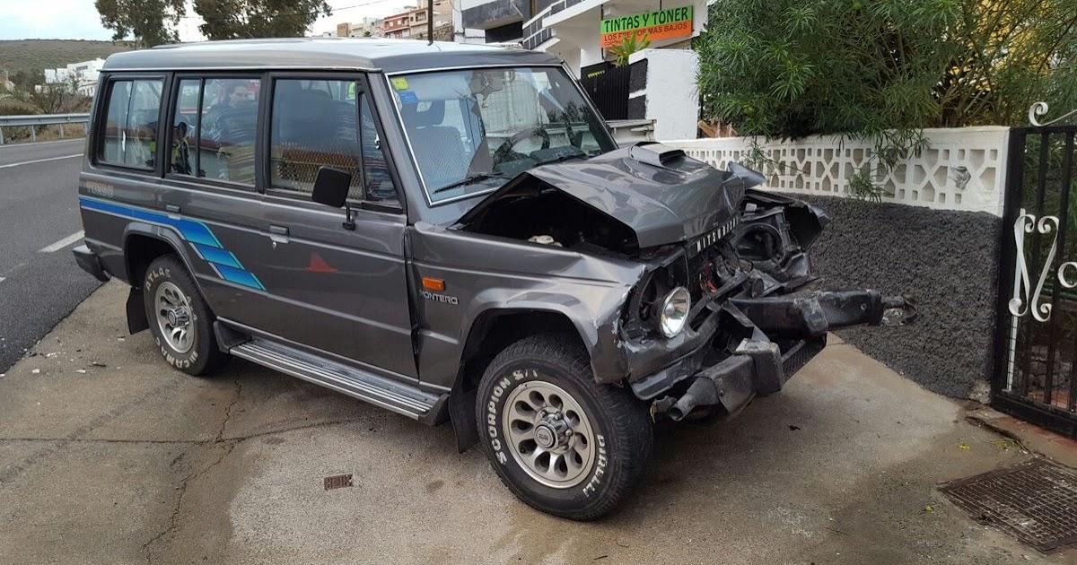 Accidente por el asfalto mojado en cuesta ram n - Gran canaria tv com ...
