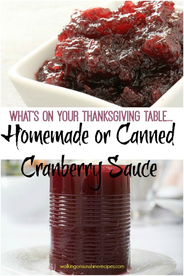 Homemade Cranberry Sauce from Walking on Sunshine Recipes